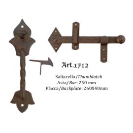 Kovaná závora s táhlem model 1712