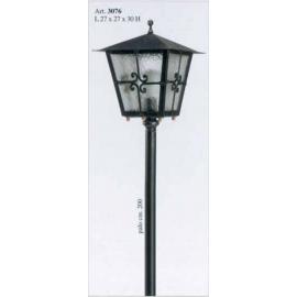 Venkovní kovaná stojací lampa model 3076