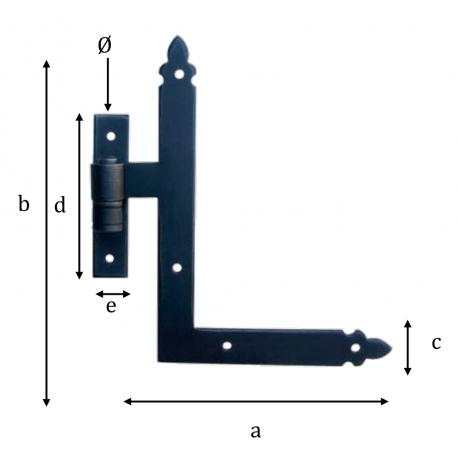 Kovaný rohový pant model 1770