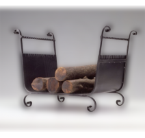 Kovaný koš na dřevo ke krbu model 3012