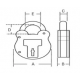 Kovaný visací zámek SQ220