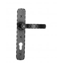 Kovaná klika na dveře model 1091