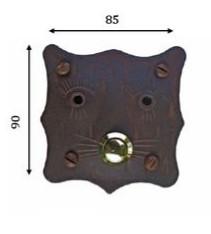Kovaná krytka na domovní zvonek model 244