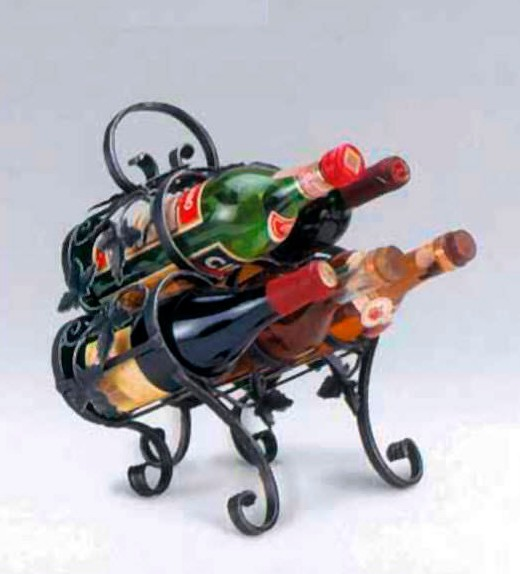 Kovaný stojan na víno model 3032